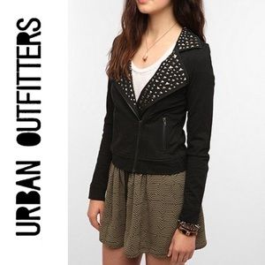 🆕 URBAN Sparkle & Fade Studded Knit Moto Jacket
